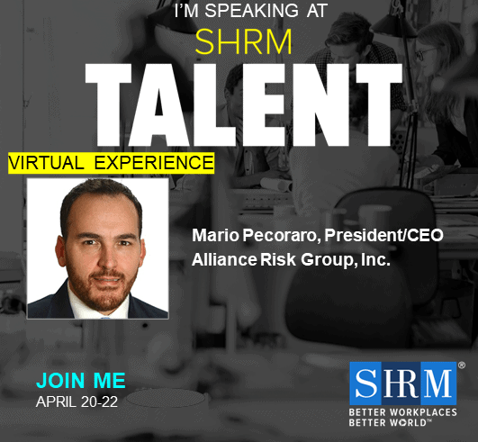 CEO Mario Pecoraro is a Speaker at the SHRM April 20-22, 2020 Virtual Talent Experience