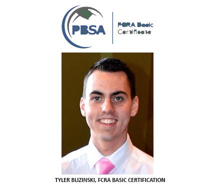 FCRA Basic Certification Awarded to Alliance Background Investigator, Tyler Blizinski