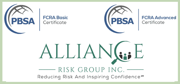 Background Check Best Practices, FCRA Advanced Certification, Alliance Risk Group