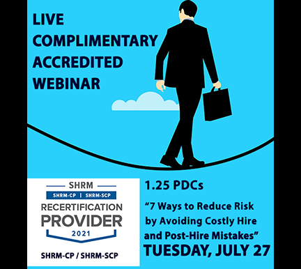 Register for Live HR Complimentary Webinar Presented by CEO Mario Pecoraro on 7/27/21