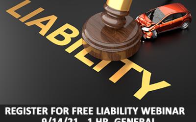 Register for Free Webinar: Liability Claims Investigations-Fl. Ins. Adj. CE Credit-1 Hr. Gen