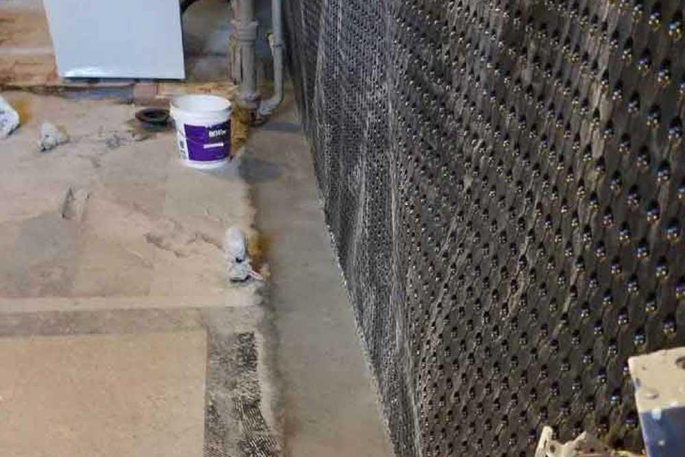 interior basement waterproofing process