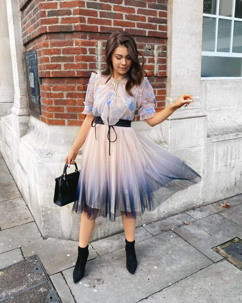 gradient mesh tulle dress with pleating. It's one of the top-selling dresses on Chicwish.