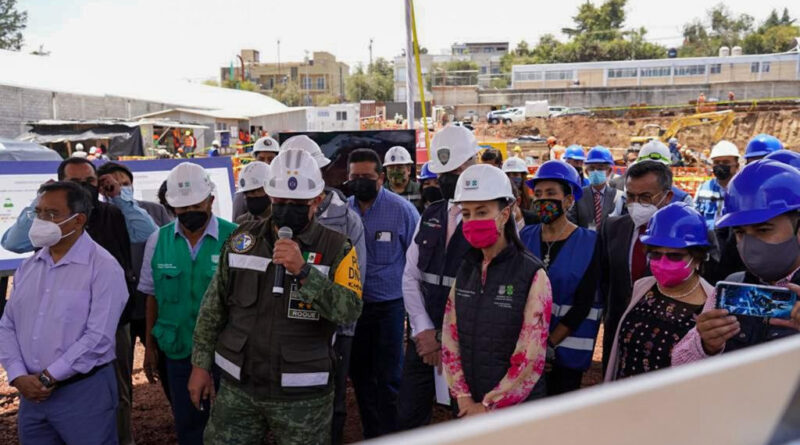 Jefa de Gobierno Sheinbaum Durante la Supervisión de obra del Hospital General Cuajimalpa