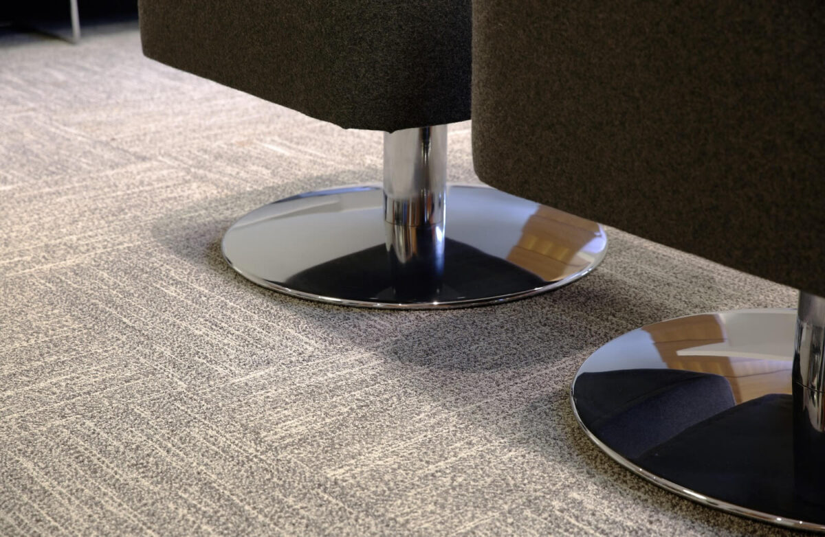 Commercial floor carpet in an office