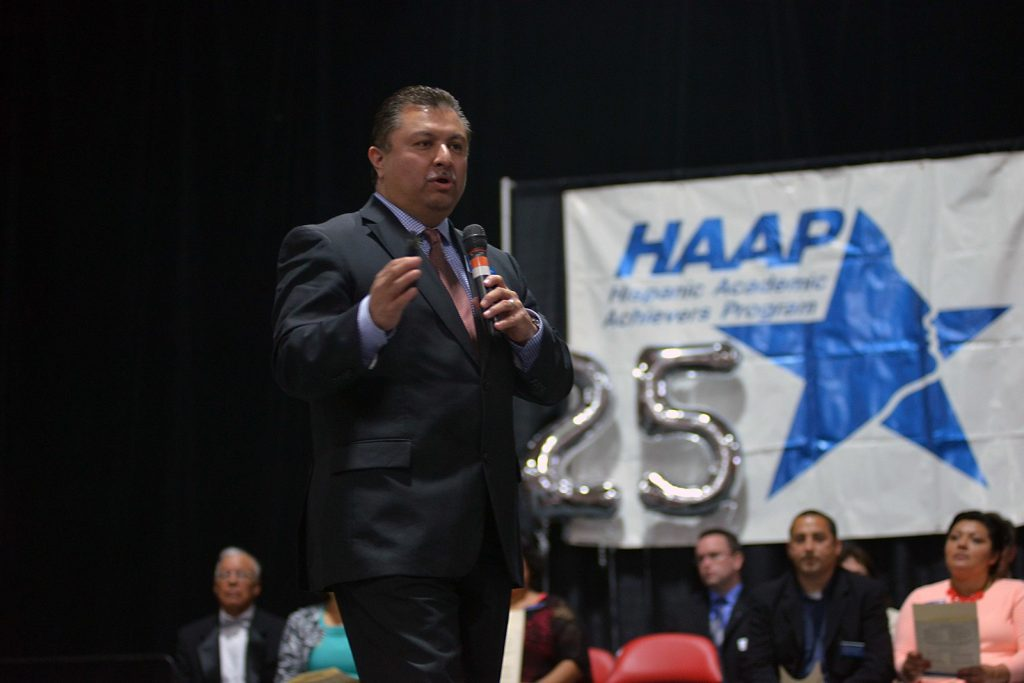 Frank Armijo speaking at an HAAP event