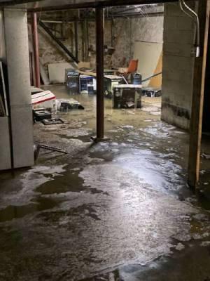 Flooding unfinished basement
