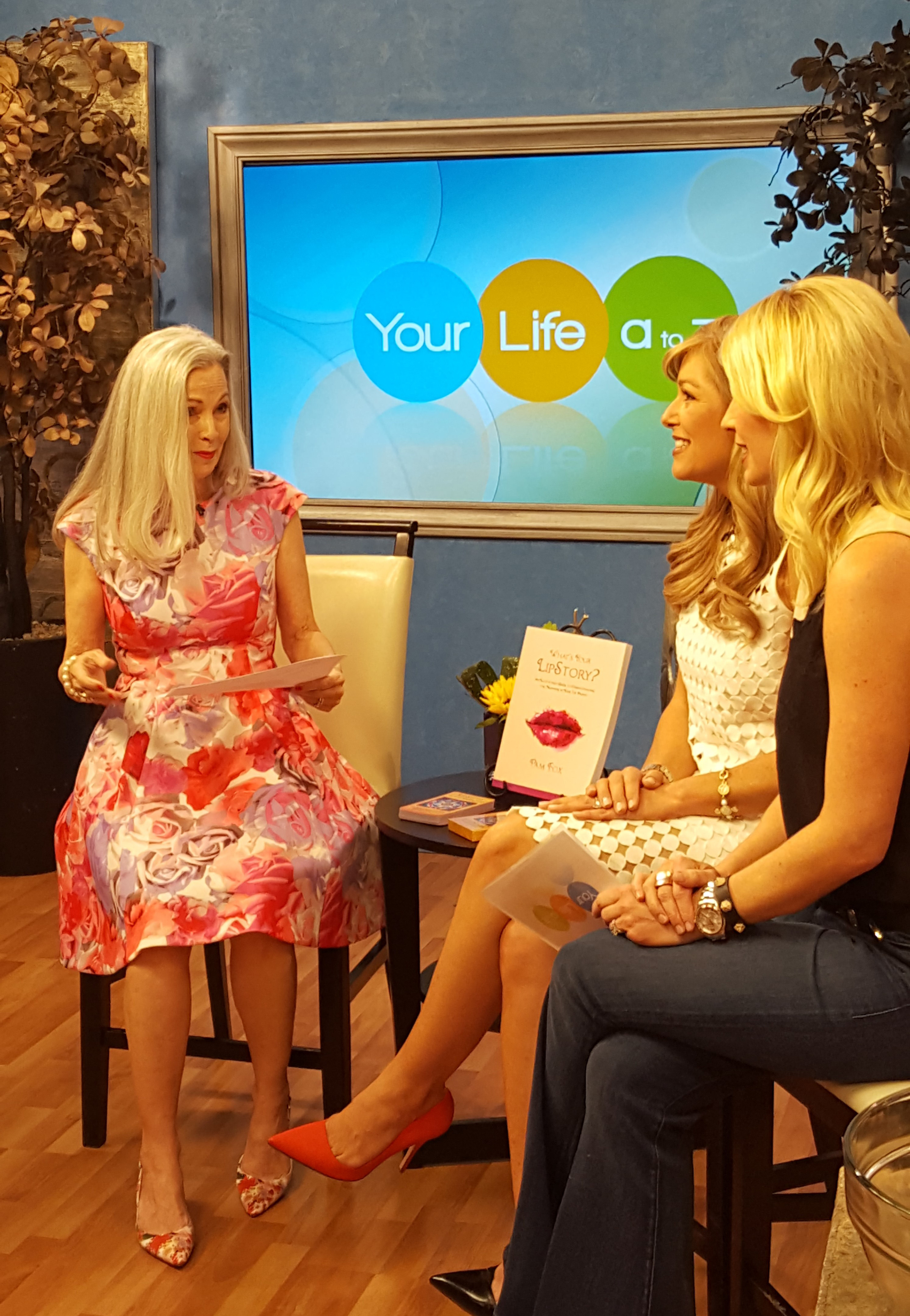 """Pam talks about her book """"What's Your LipStory?"""" on Channel 3, Your Life A-Z."""