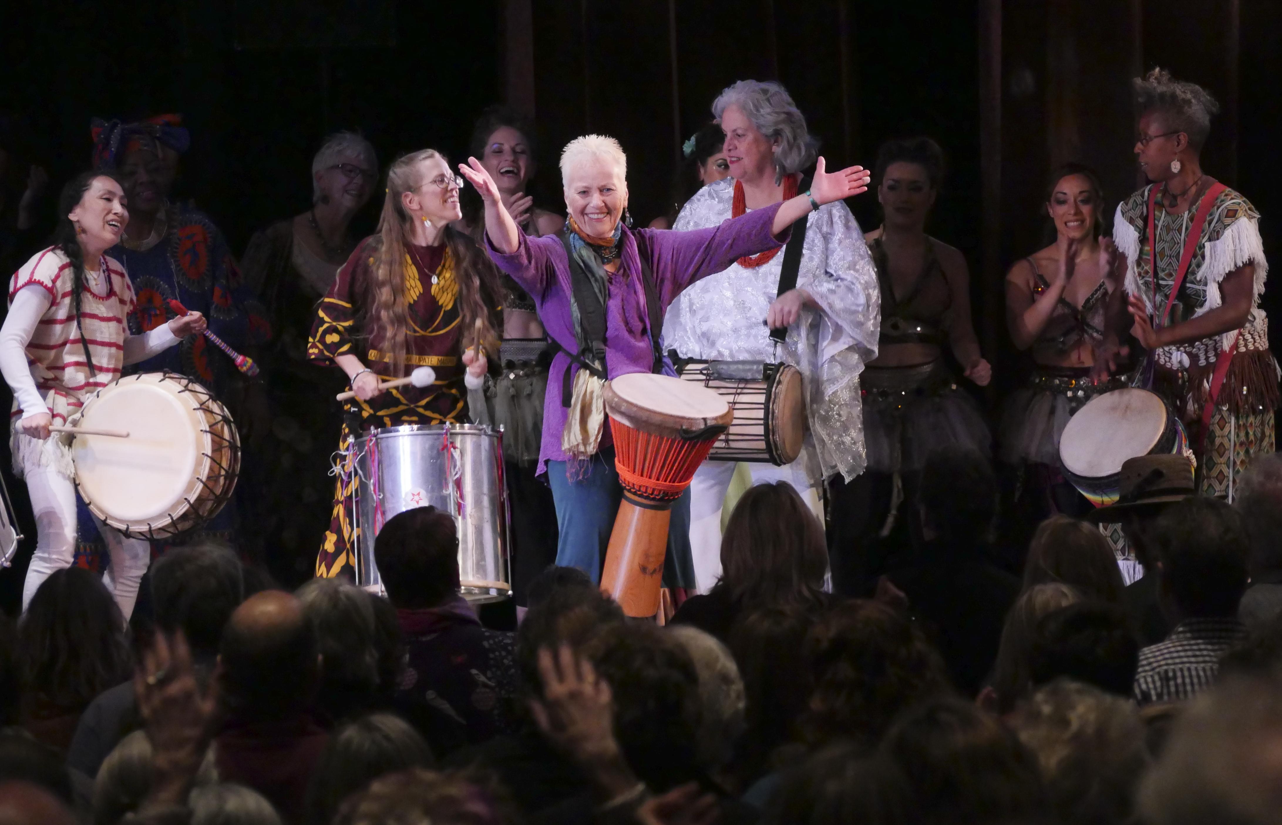 "Barbara Borden, at Jennifer Berezan's ""Song For All Beings""  concert"