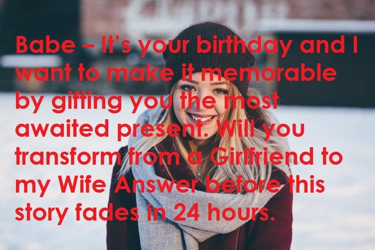 Babe – It is your birthday
