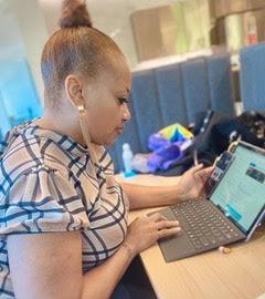 Remia McPherson creating digital content