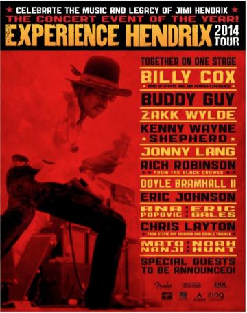 Experience Hendrix - 2014 tour