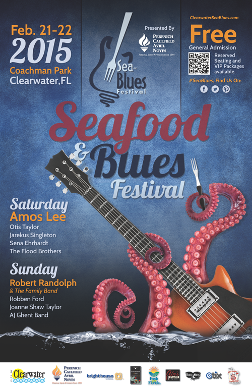 Clearwater Seafood & Blues Poster - 2015