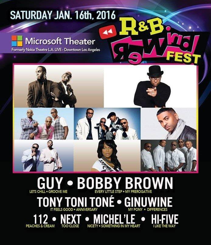 The R&B Rewind Fest - Jan 16th, 2016 in Los Angeles