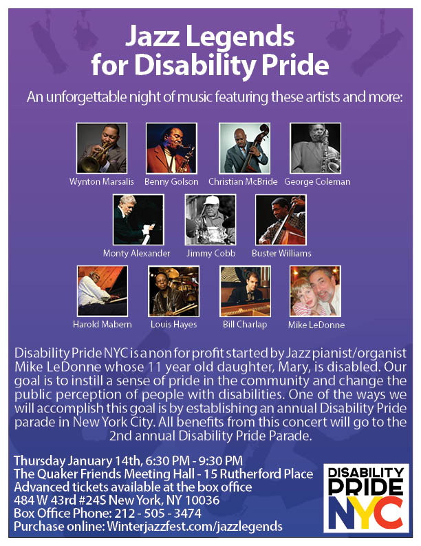 Jazz Legends for Disability Pride