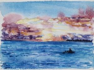 Sunset paddle 2014