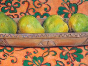 Umete matie tissus orange