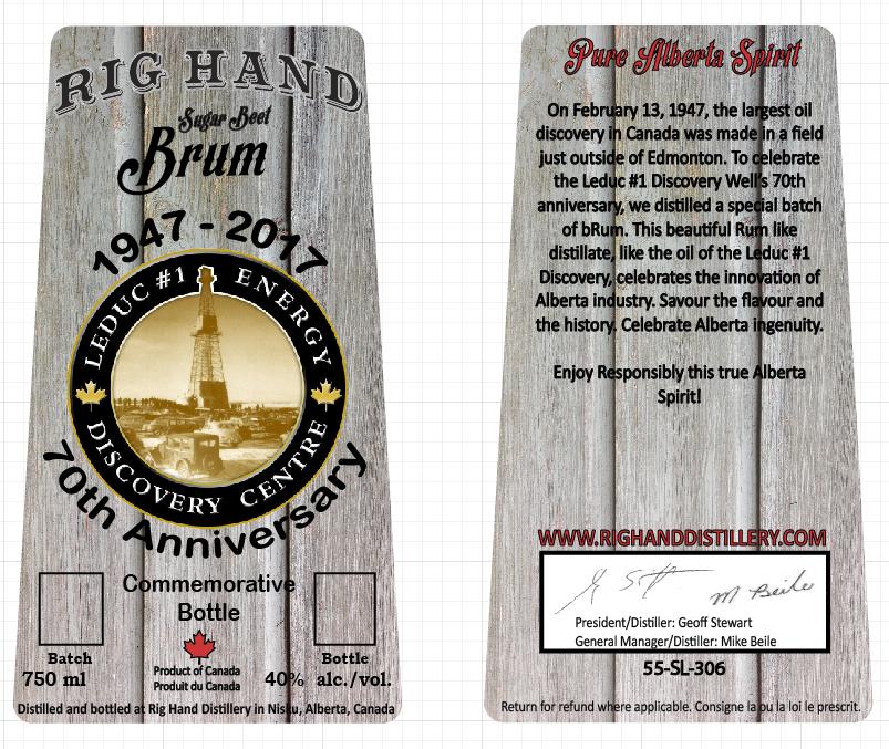 Trademark bottle design & Custom labeling - Rig Hand Distillery