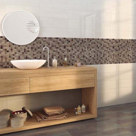 Kenya 3D. Mocha: Ceramic Decor Tile 20.0x60.0