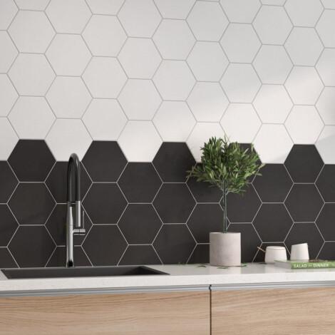 Hex Mayfair Negro : Matt Granito Tile (19.8x22.8)cm