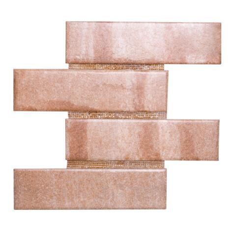 24974E Baltimor Reddish Assim: Matt Granito Mosaic Tile 30.0×39