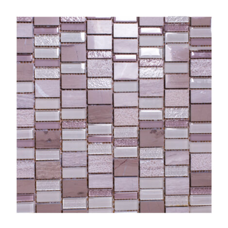 K16313MWT: Stone/Glass Mosaic Tile 30.2×29