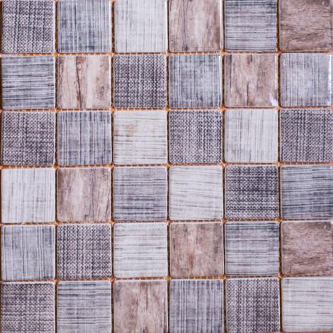 LA18054F: Glass Mosaic Tile 30.0×30