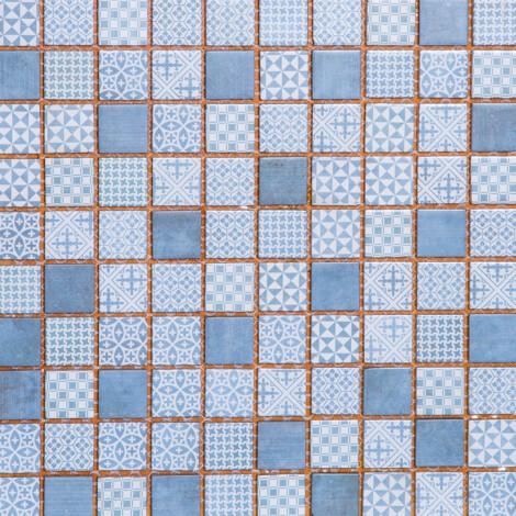 LA18199C: Glass Mosaic Tile 30.0×30