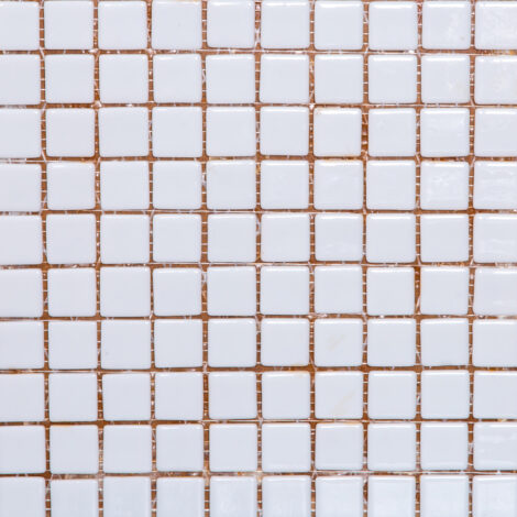 Blanco 100: Glass Mosaic Tile 31.7×31.7 (2.5×2