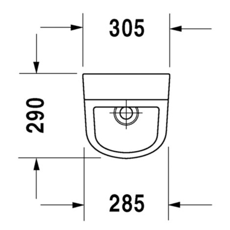 Duravit: D-Code: Urinal Bowl: Concealed Inlet: White #0829300000