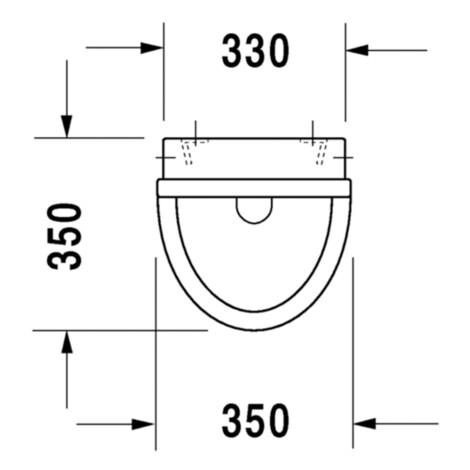 Duravit: Starck 3: Urinal Bowl: Conc. Inlet+Fly #0821350007