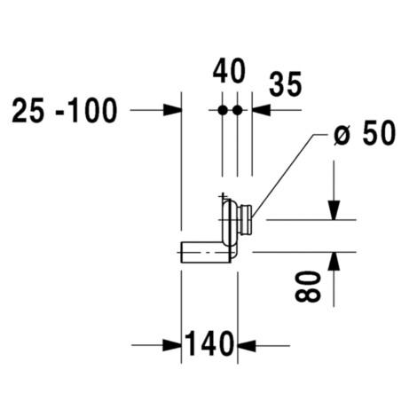 Duravit: Urinal Siphon, Horizontal Outlet #0051120000