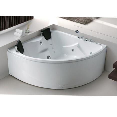 FSHN: Massage BathTub : 1500x1500x600mm : White #D-3008
