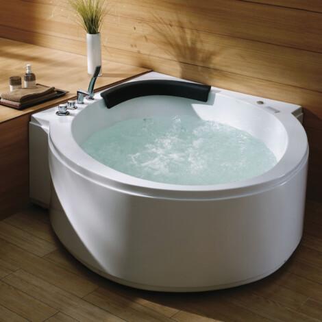 FSHN: Massage BathTub : 1600x1600x600mm : White #D-8162