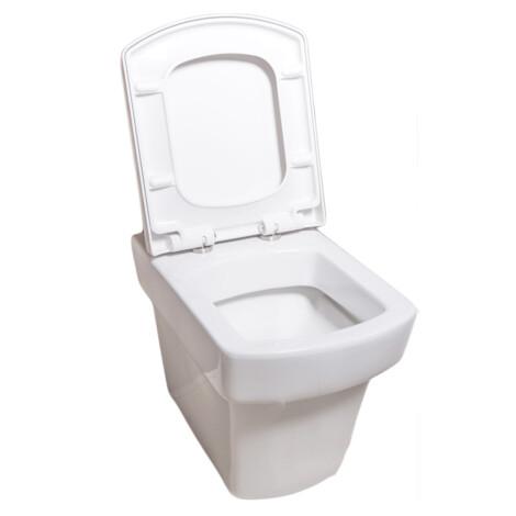 TAPIS Larx: WC Pan: Back To Wall , White #CB1060