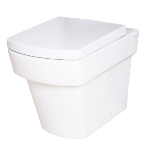 TAPIS Larx: WC Pan: Back To Wall , White #CB1060 1