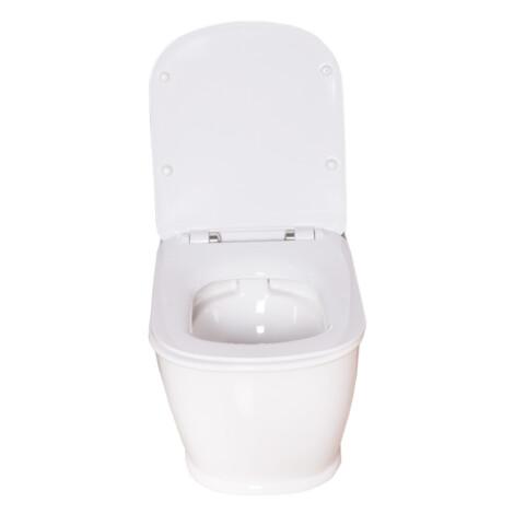 TAPIS Nucas/Genesis: Soft Close Seat Cover: White #MTCU150/#MTCU150-437 1