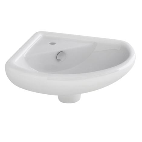 Nova : Corner Basin, 37cm 1TH : White #LH1018 1