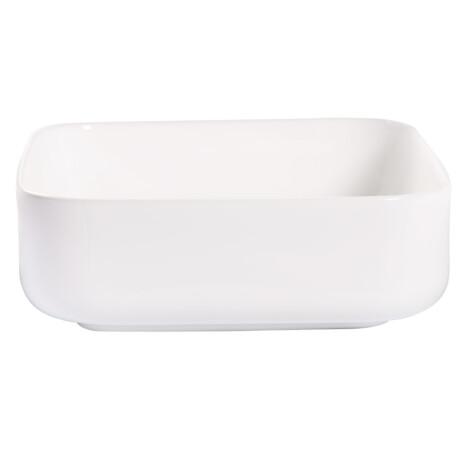 TAPIS Art-Deco: Washbasin With Waste; 38.5x35.5x14cm,White #2258