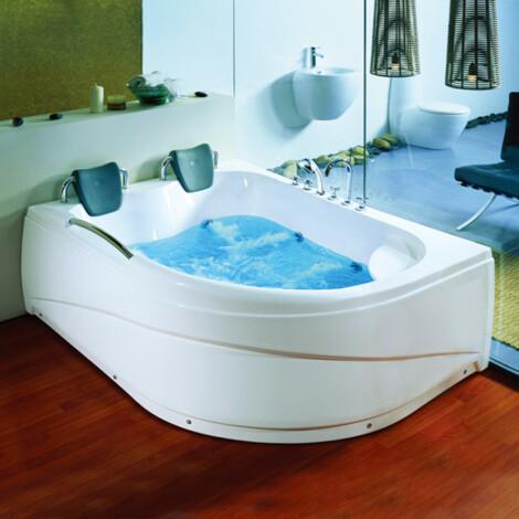 CRW: Massage BathTub: White, 178x130x67cm #CZI024L