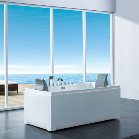 CRW: Massage BathTub: White, 172x81x67cm #CZI063