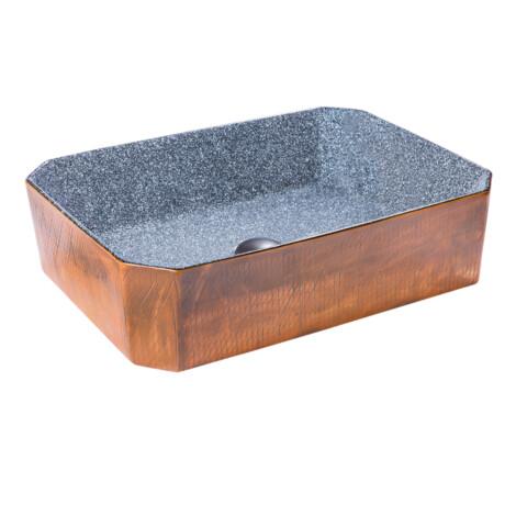 TAPIS Art-Deco: Washbasin With Waste; 50.5x37x13cm #2086A-B1