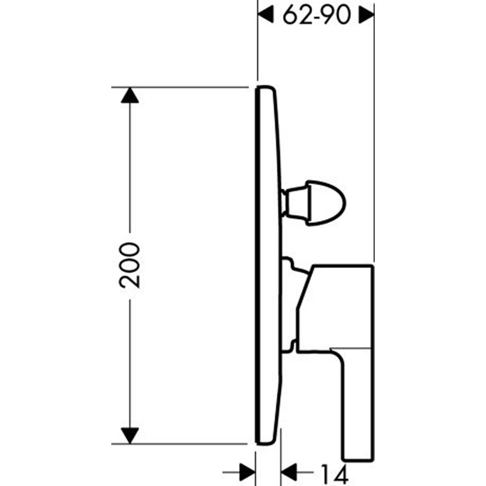 Hansgrohe Metris S : Finish Set, S/Lever : C.P.#31467
