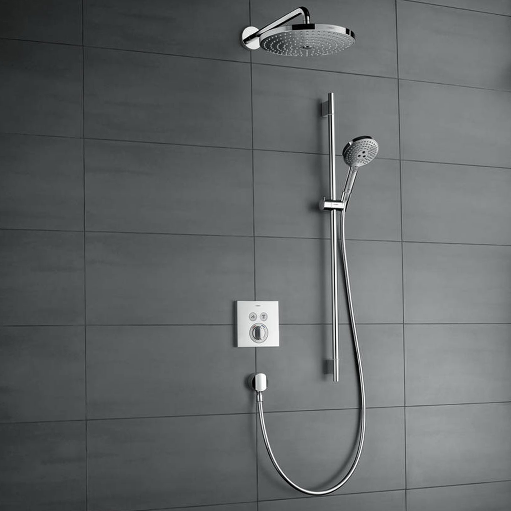 Hansgrohe Shower Select: Finish Set For Conc. Shower Mixer; 2 outlets C.P. #15768000