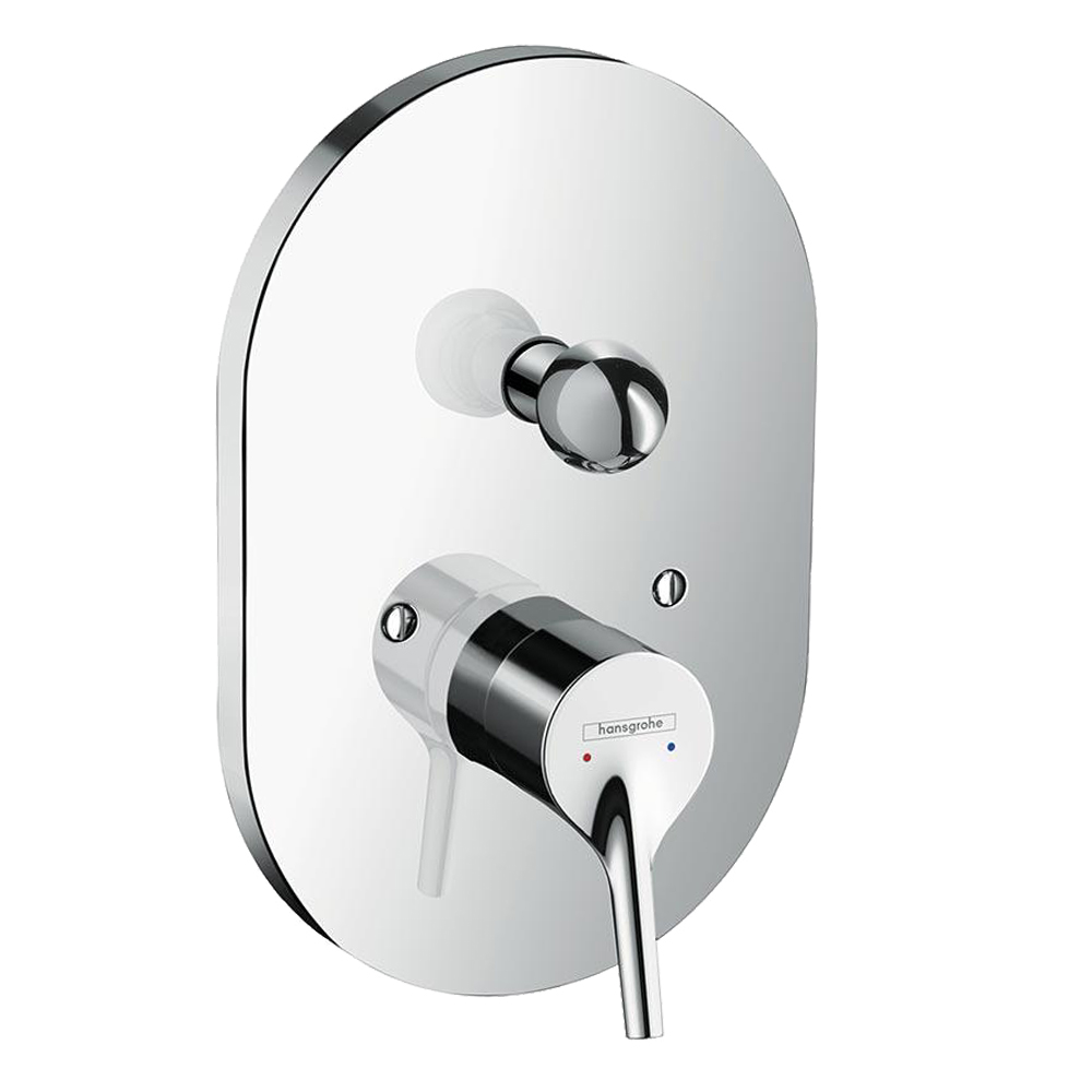 Hansgrohe Talis S: Concealed 4-Way, Finish Set CP
