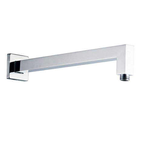 Square Wall Shower Arm With Rosette 42cm, Chrome 1