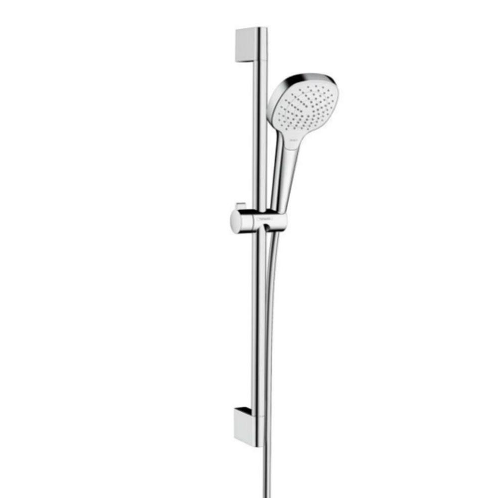 Hansgrohe Croma Select E Vario: Shower Kit & Rail: White/CP #26582400 1