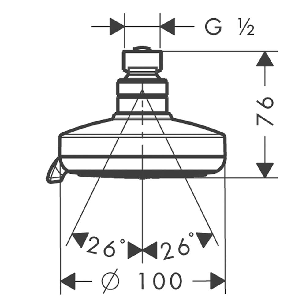 Hansgrohe Croma 100 Multi : Shower Head: CP #27443000