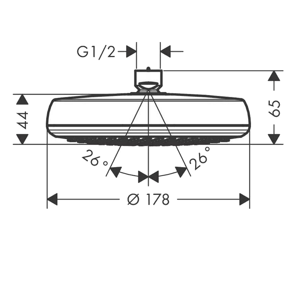 Hansgrohe Crometta 160:Shower Head:L/Pressure W/CP #26576400
