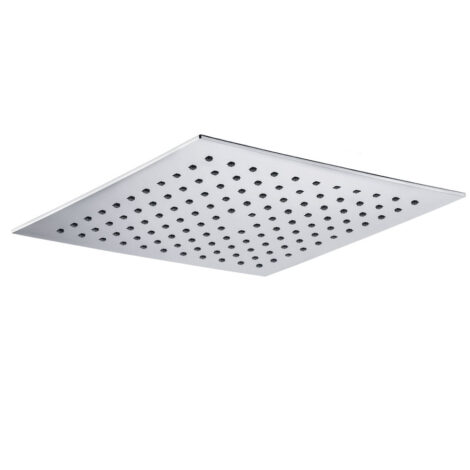 Stainless Steel Square Shower Head: (25×25)cm, Chrome 1